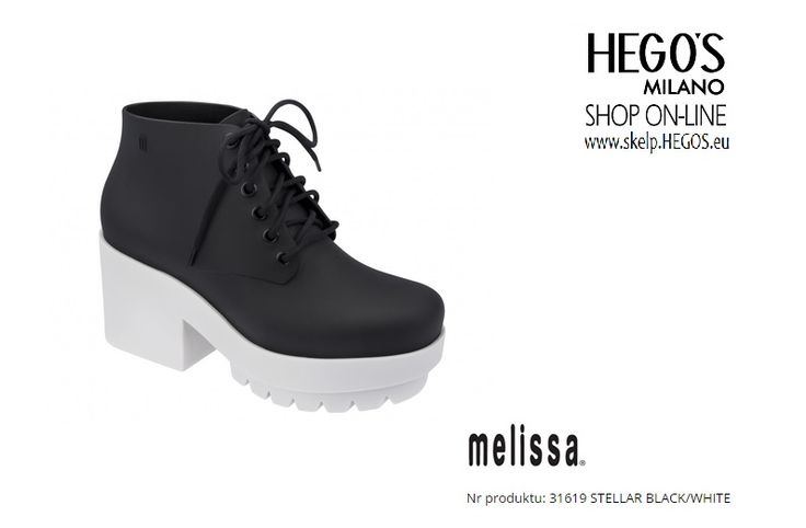 MELISSA STELLAR Melissa Stellar is not just a boot, it's a style icon! This new style has an sophisticate matte finish and shoelaces, two big hits for this winter. The high heels and the tractor sole are a perfect match for those who are looking for comfort, sophistication and design. A grunge touch to your winter look! Autumn/Winter 15/16 Collection HEGO'S