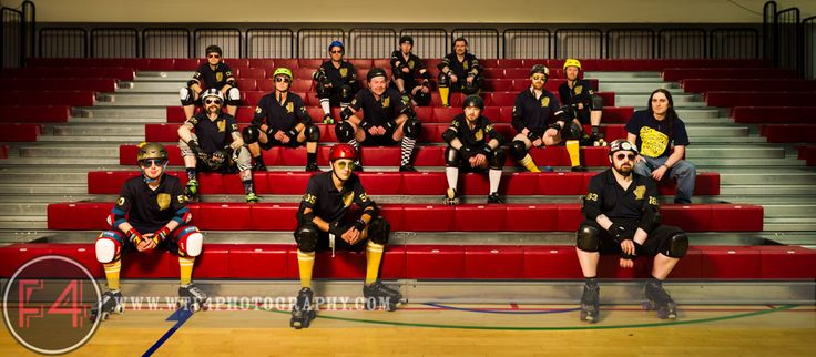 I took a team photograph along with some portraits shots of Bristol Roller Derby's men's team: Vice Quad.