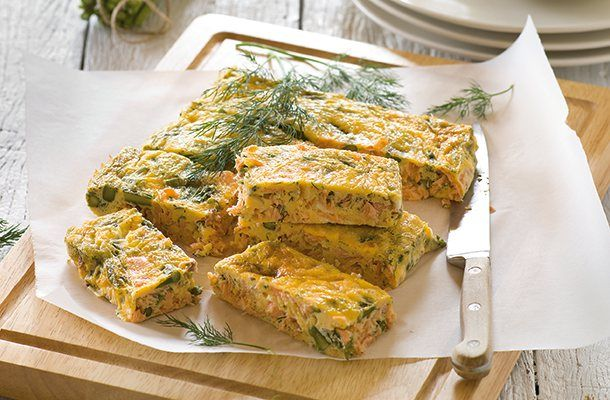 A slice of our lovely Total Wellbeing Diet asparagus and smoked salmon frittata makes a great packed lunch, or serve it with baby salad leaves as a starter at your next dinner party.