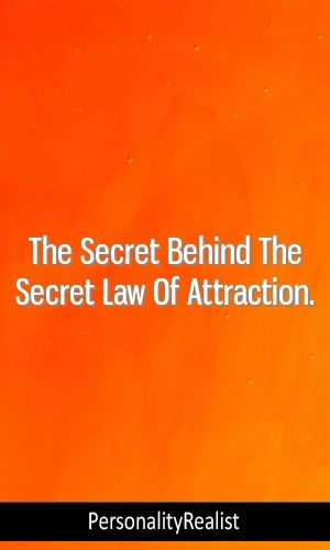 The Secret Behind The Secret Law Of Attraction  #myersbriggs #INFJ