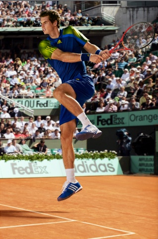 Andy Murray Adidas Barricade Summer 2013 #TennisCouture #TennisFashion