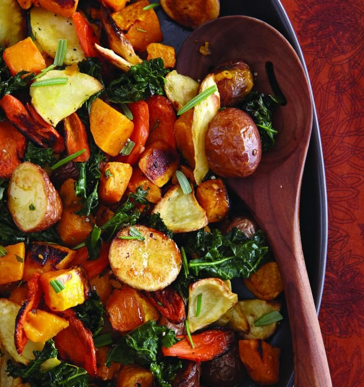 Learn how to make the recipe for Roasted Autumn Vegetables from the Eats cookbook.