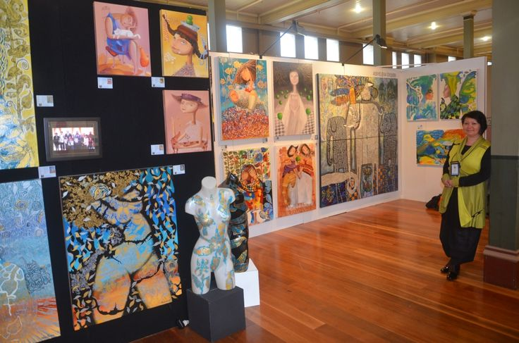 My stand at Australian Art Show, Melbourne 2013. Check my website www.dyuminart.com