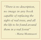 Maria Montessori: Let children experience nature and the world first hand! ~ Keep turning in those Tyson Chicken labels and box tops so I'll children will be able to experience nature and learning in the palms of their hands.~