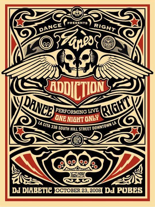 Jane's Addiction concert poster