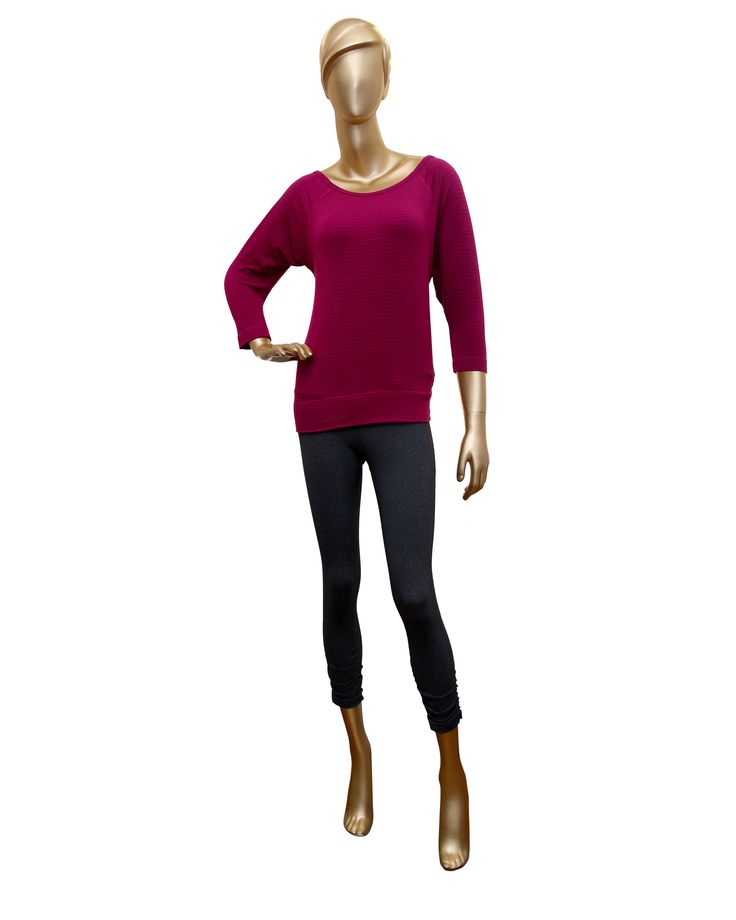 Baby Stripped Terry Fitted Pullover - Beyond Yoga