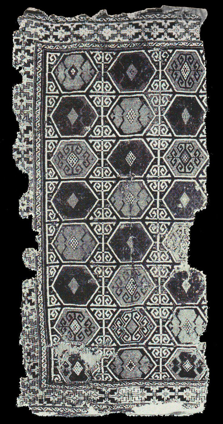OTTOMAN CARPETS IN THE XVI - XVII CENTURIES (16-17TH CENTURIES)  Anatolian rug fragment, published at Erdmann, K., Seven Hundred Years of Oriental Rugs, p.121. TIEM inv. no: 291. 108x227cm