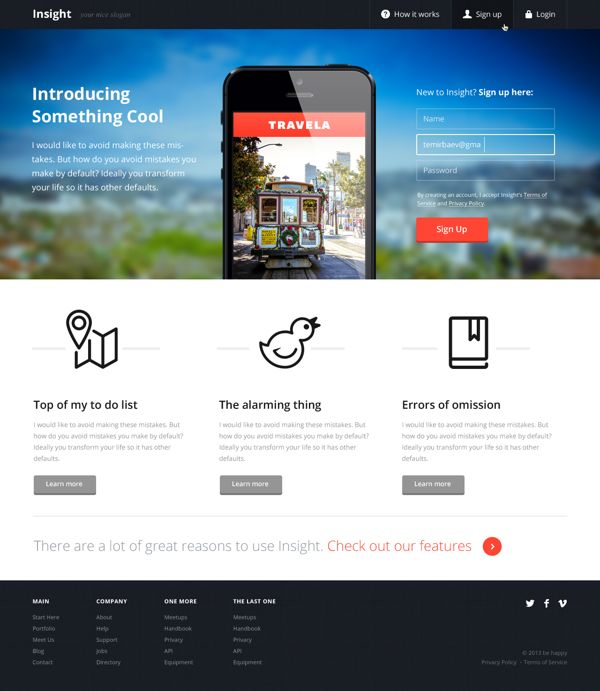 Insight Template by Bek Temirbaev, via Behance