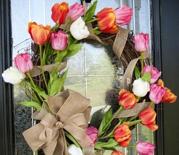 türkranz frühling tulpen DIY