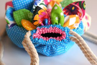 Plecaczek rybka /fishy backpack tutorial DIY