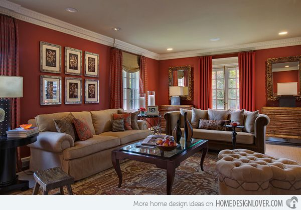 15 Mesmerizing Maroon Living Room Walls via @homedesignlover