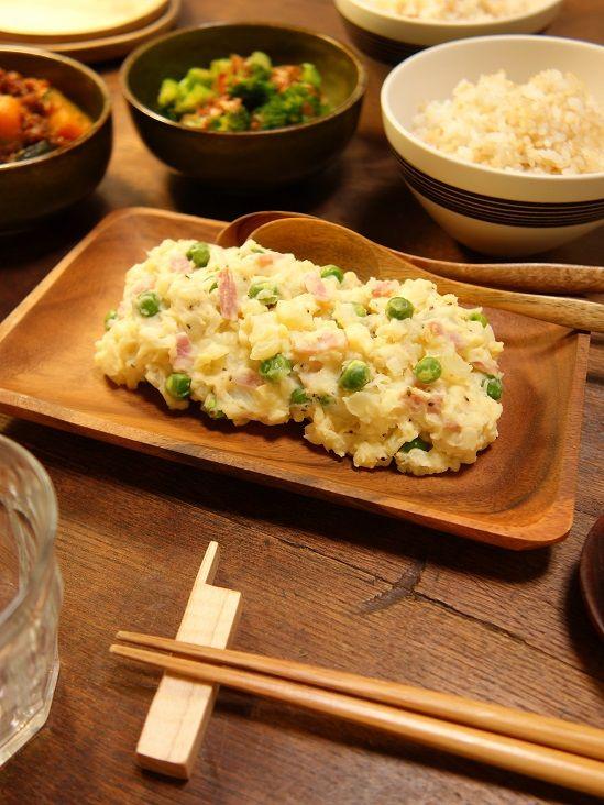 いつもの料理を和のスパイスでアレンジ~♪旬の春野菜で作る~!緑鮮やかホクホク☆グリンピースと新玉ねぎたっぷり!!!新じゃがジンジャーポテトサラダ6 -Recipe No.1608-
