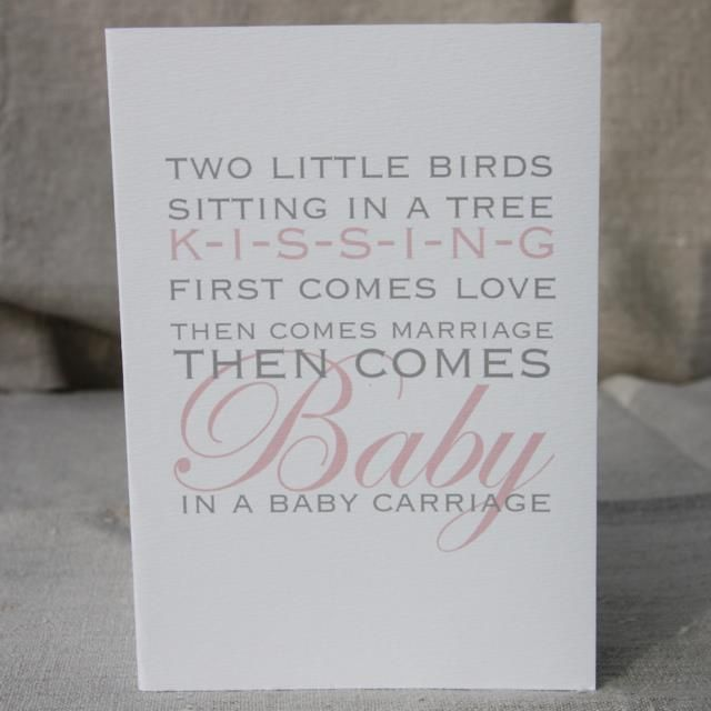 I'm selling Then Comes Baby In a Baby Carriage Card - A$3.00 #onselz