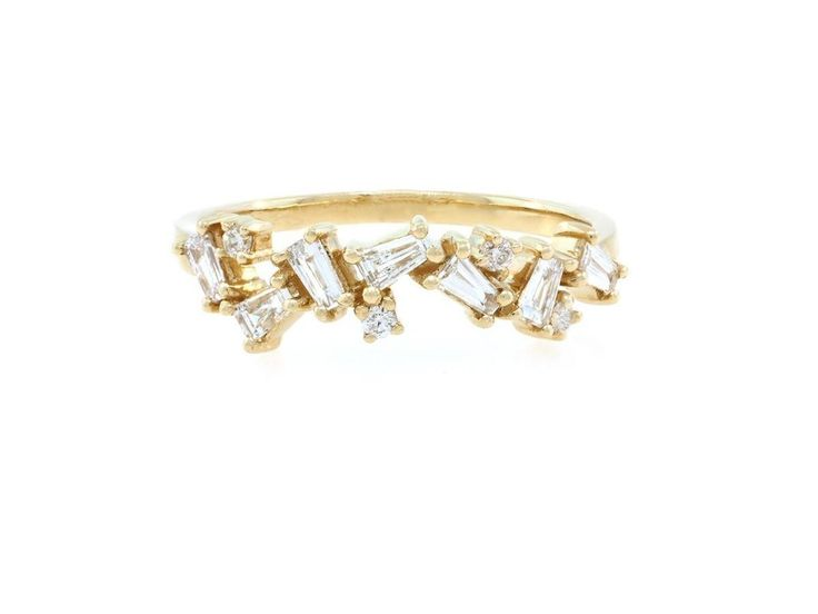 Gold Organic Baguette Diamond Ring  If I win the lotto between now and our trip to San Fran in Sept this will be bought.