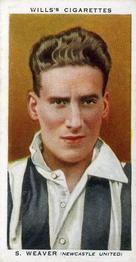 1935-36 W.D. & H.O. Wills Association Footballers #46 Sam Weaver  Front