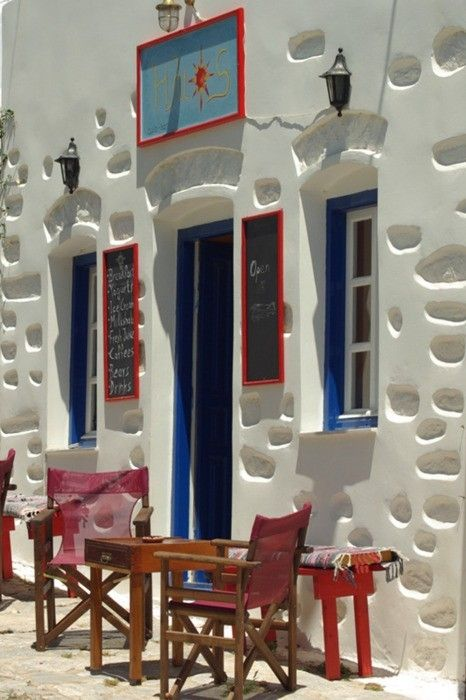 Cafe-Bar, Amorgos, Ciclades Islands, Greece