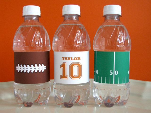 Football Printable - Football drink wrappers - Football Birthday - printable party - Sports Birthday - tailgate - Football Watch Party. 9.00, via Etsy.