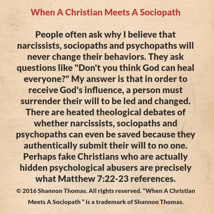 Why I know she will never be saved, a psychological abuser such as she will never fully submit to God, and without doing so cannot be saved!