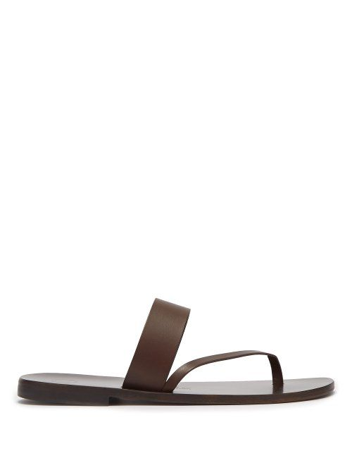 56e5980b5cc1 ÁLVARO GONZÁLEZ ÁLVARO - ALBERTO LEATHER SANDALS - MENS - DARK BROWN.   álvarogonzález  shoes