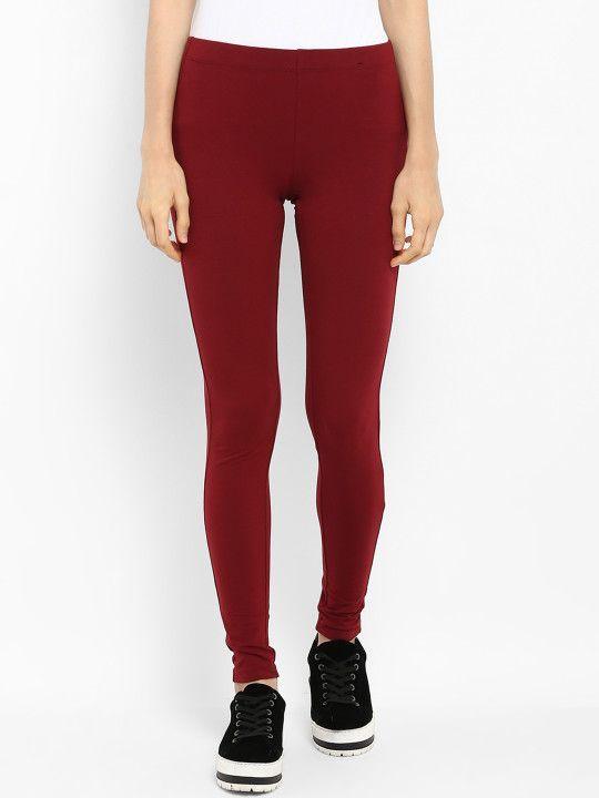 7fdf108fdec00 Mode by Red Tape Women Maroon Ankle Length Leggings - | 399 ...