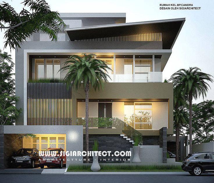 Desain Rumah Mewah Hook 3 4 Lantai Modern Minimalis Peruntukan Fungsi Lantai Atap Sebagai