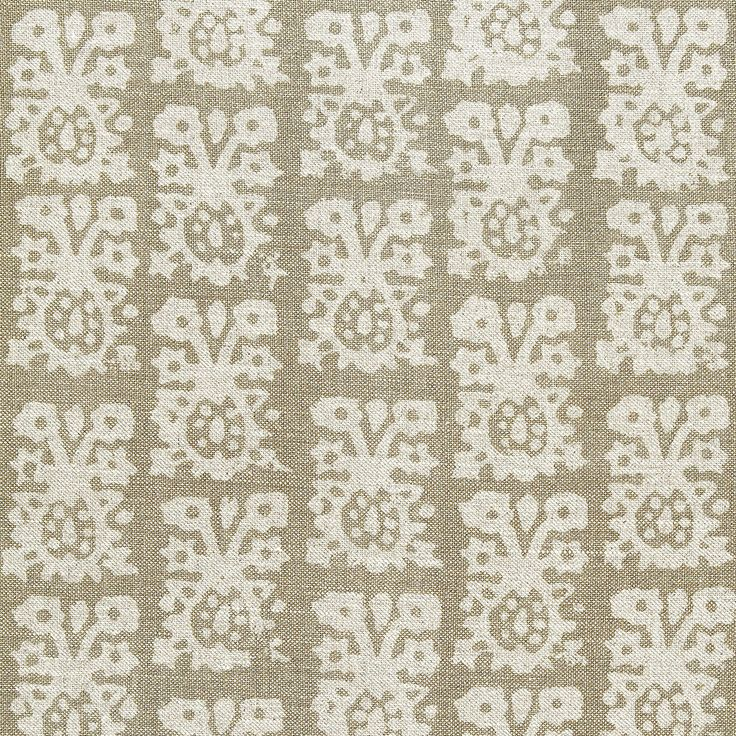 Jakarta Linen Print Greige Fabric by the Yard @LaylaGrayce