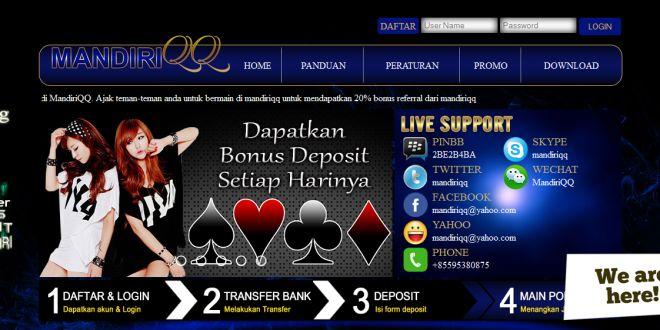 MANDIRIQQ – Agen Poker Online, DominoQQ Terpercaya
