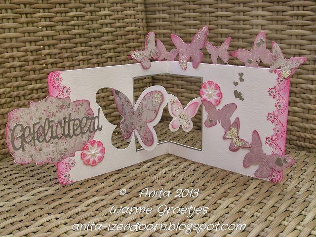 Gorgeous Butterfly Window Pop 'n Cuts Card by Anita Izendoorn. - Anita 's Warme Groetjes: Pop Up's