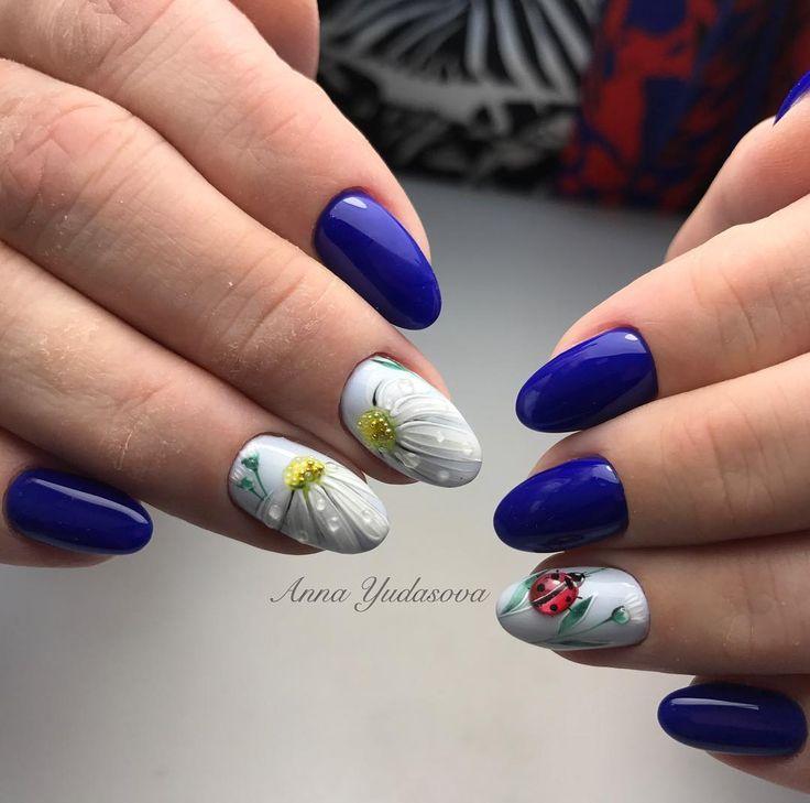 Натуральные ногти и ручная роспись  #ногтинарофоминск идею взяли частично у @alenakapriz