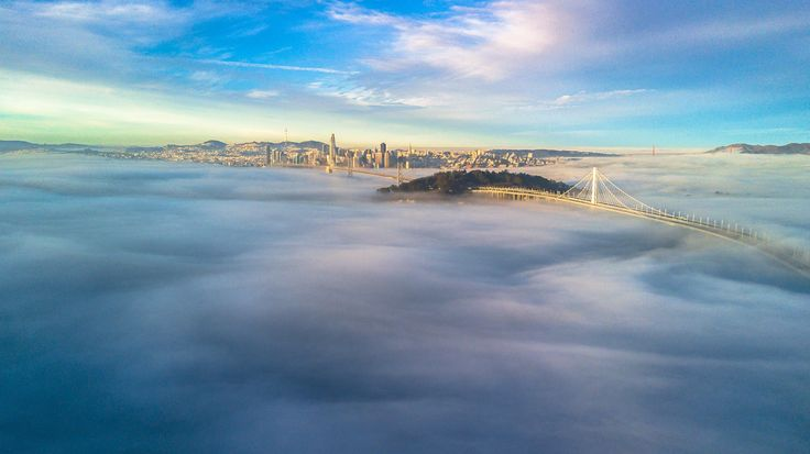 Above the fog San Francisco California [OC] [3992X2242]