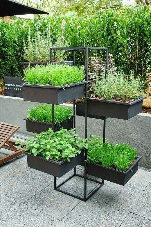 Just perfect for growing herbs in a small space. #…