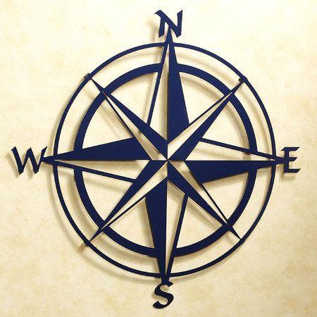 Compass Rose Metal Wall Art
