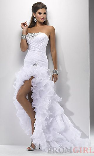 Strapless High Low Prom Dress by Flirt P4704 at PromGirl.com