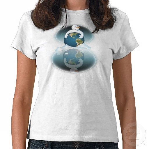 Protect the Planet White Shirt :-  Hard hitting image with an even harder hitting message on the back. My snowmen get political for the first time and make a stand on a subject that's close to their heart...GLOBAL WARMING.  #globalwarming #winter #holiday #holidays #planet #world #home #earth #fun #cold #frosty #icy #xmas #festive #seasonal #yuletide #snowman #snow #christmas #warming #cooling #global