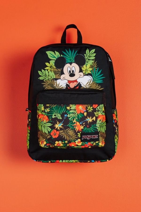 Introducing the first ever collaboration between Disney and JanSport. Shop the Disney Tropical Mickey High Stakes backpack at select retailers and jansport.com