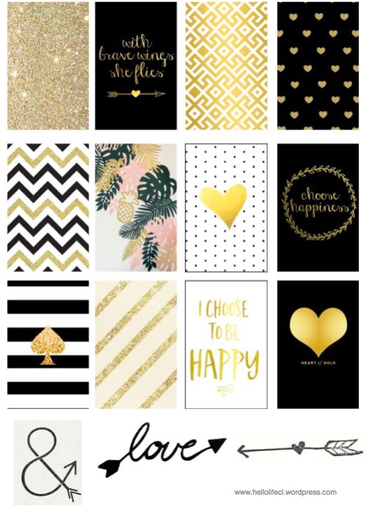 Gold & Black HI EVERYONE These printable stickers are FREE and are made specially for the Large Happy Planner Click on the link below to Download >> Gold and Black Thank You For The vis…