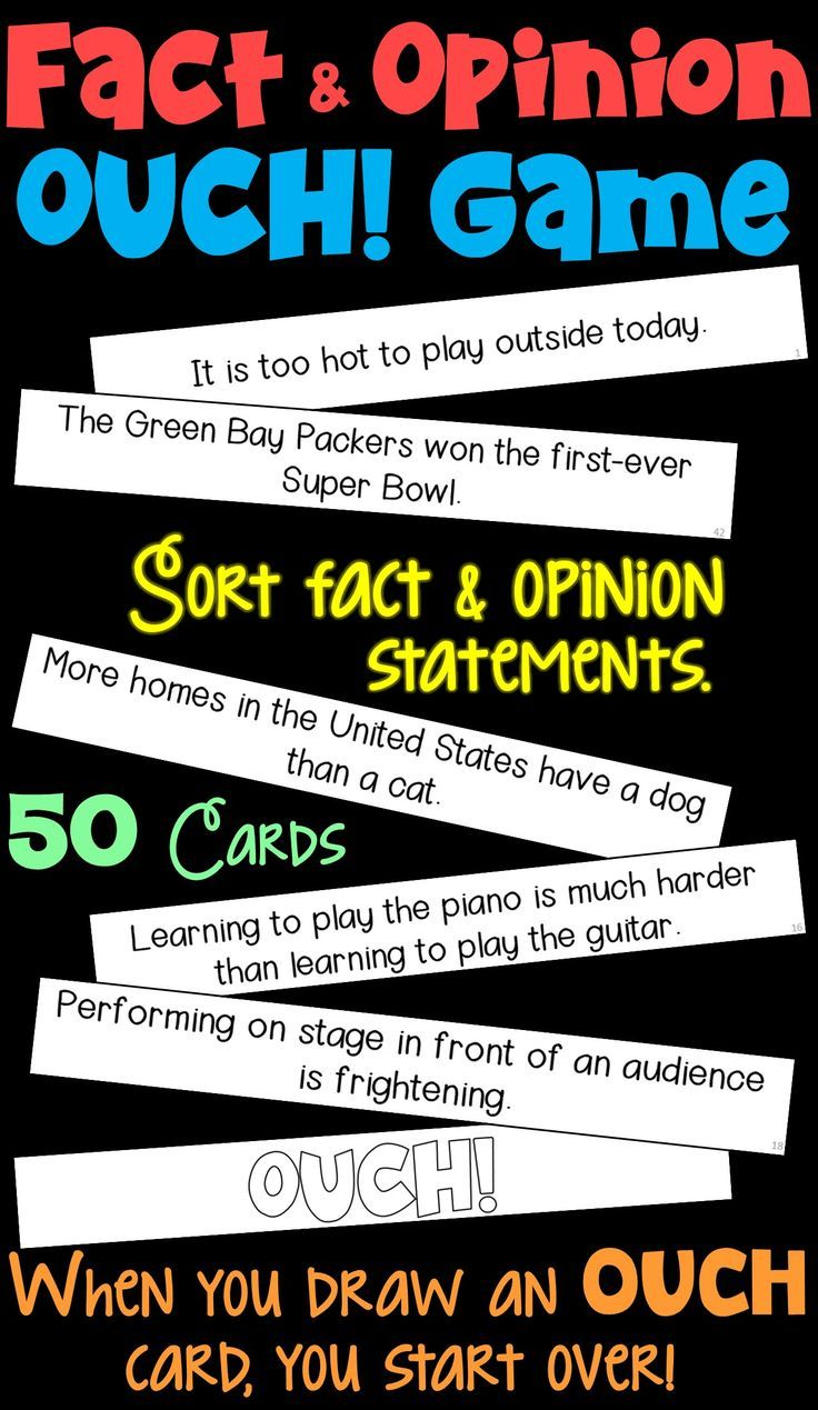 Fact And Opinion Ouch Game Fact And Opinion Writing Rubric Opinion Writing [ 1269 x 736 Pixel ]
