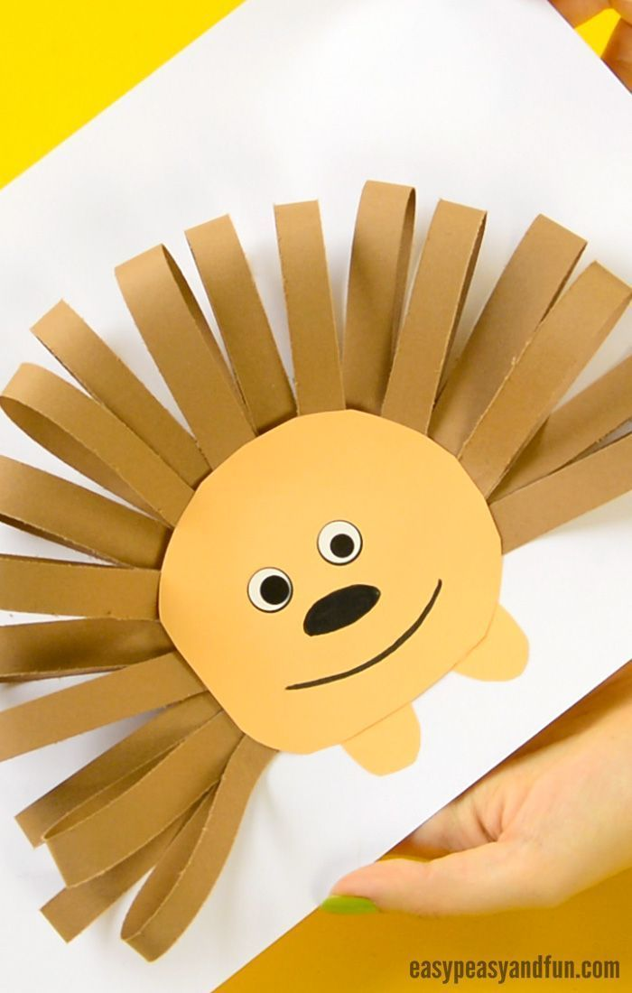 Papierstreifen Igel Handwerk Fur Kinder Handwerk Kinder