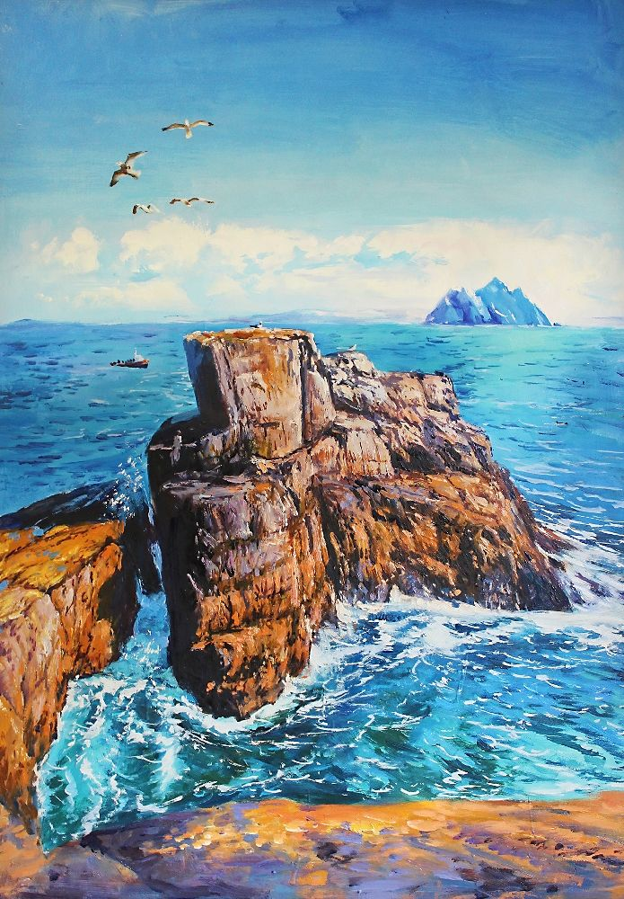 Skellig Michael by Conor Mcguire on ArtClick.ie Ireland Seascape Art