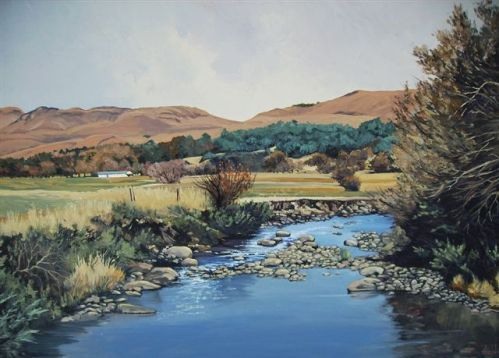 Oil Painting - Southern Drakenberg Scene by Ted Hoefsloot