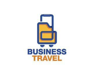 Business Travel Logo design - Logo design of a trolley shaped like a computer folder. Price $299.00