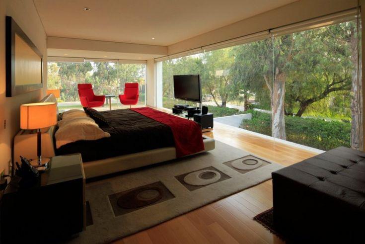 nice: Godoy Houses, Hernandez Silva, Forests Houses, Bedrooms Design, Glasses Wall, Silva Architect, Luxury Bedrooms, Bedrooms Interiors, Cozy Bedrooms