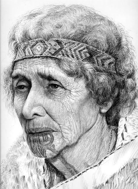 old maori woman