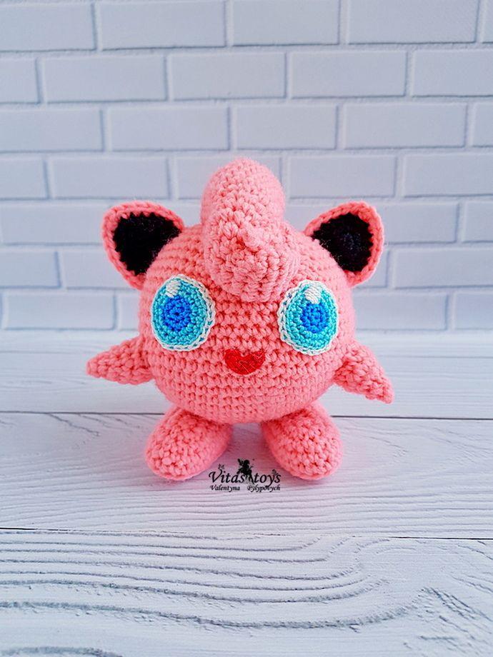 Jigglypuff Pokemon 20 cm 8 Zoll amigurumi Aufgrund der | Etsy | 920x690