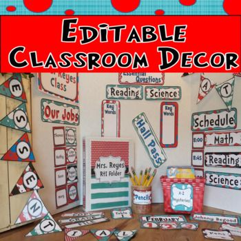 50% off first 24 hours- FOLLOW ME! Editable classroom decoration for Dr. Seuss, circus or carnival themed classroom! You can design your own charts and save money! It includes editable tags, pennant, binders and spines, posters, labels and more. Also included is a calendar in Spanish and English that is non-editable.  101 PAGES- MUST SEE PREVIEW!  YOU CAN CREATE your own themed classroom: Desk Tags Job Chart Behavior Chart Center Labels Schedule Chart Table Tags Calendar Months and Numbers…