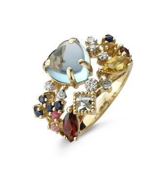 ring met kleurstenen