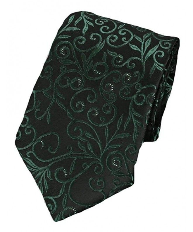 d0bc179642b2 Paisley Collection Bow Tie & Pocket Square Matching Set - Emerald Green  [Secret Garden]
