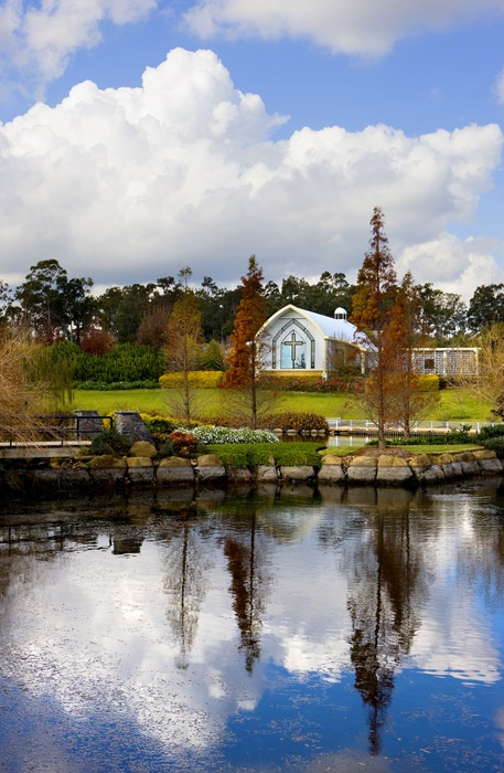Hunter Valley Gardens chapel. The perfect setting for weddings