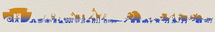 Arche Malerschablone - wiederverwendbare Tupfschablone, abwaschbar, individuelle Wandschablone für Ihre Wandgestaltung.