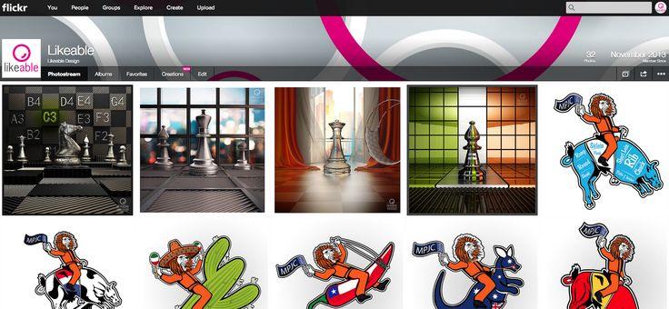 Foto's van onze ontwerpen staan ook op #Flickr #LikeableDesign